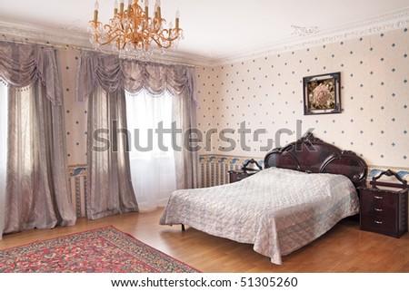 Interior of a magnificent bedroom