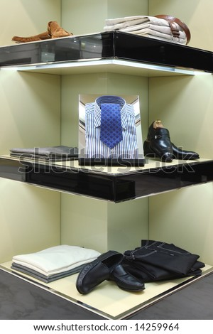 Mens Clothing Store on Interior Of A Mens Wear Store Business Clothing
