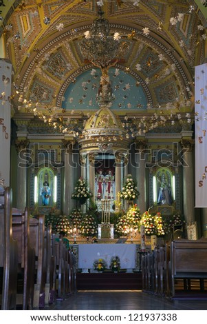 Interior of a Mexican catholic church