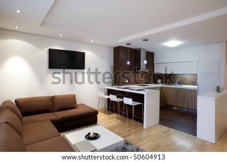 interior of a modern apartment #50604913