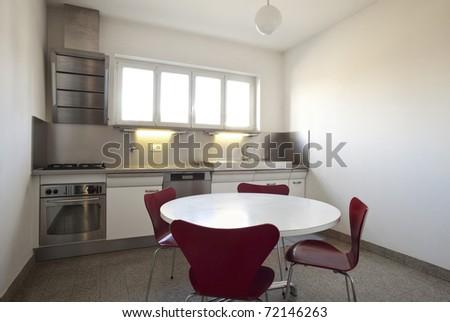 interior of a modern apartment, kitchen view - stock photo