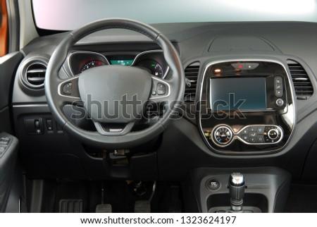 interior of a modern car #1323624197