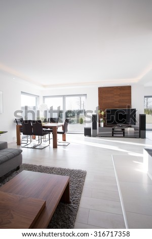 Interior of a modern elegant house for sale