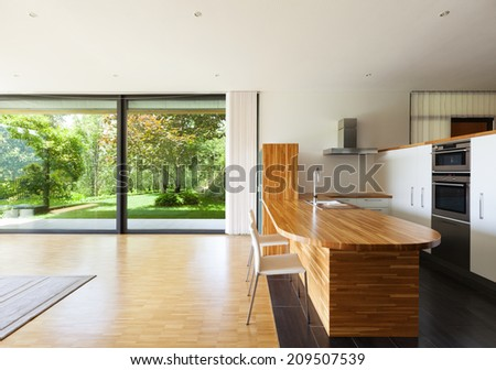 interior of a modern house domestic kitchen