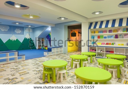 Interior of a modern kindergarten