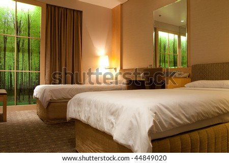 Interior of a modern luxury hotel room