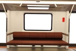 Interior of a modern metro carriage