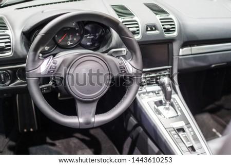 Interior of a modern sports car #1443610253