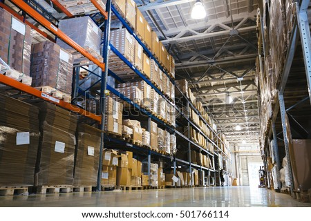 Interior of a modern warehouse #501766114