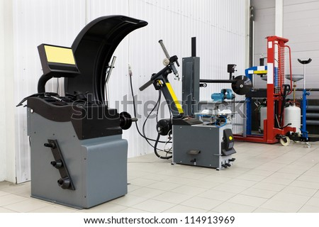 Interior of a mounting workshop