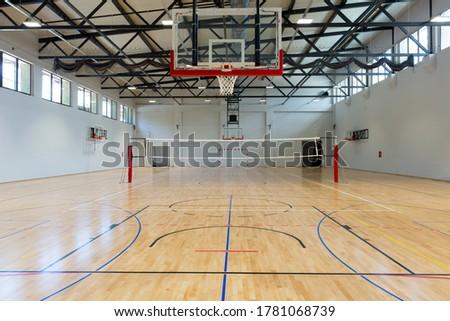 Interior of a multipurpose sport hall Stock photo ©