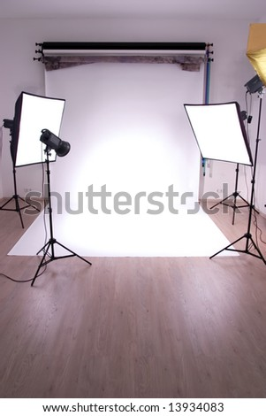 interior of a photo studio