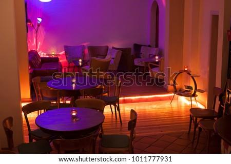Interior of a pub in atmospheric light #1011777931