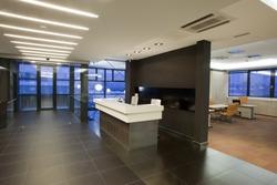 interior of a reception room