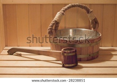 Interior of a sauna . Advantage for health.