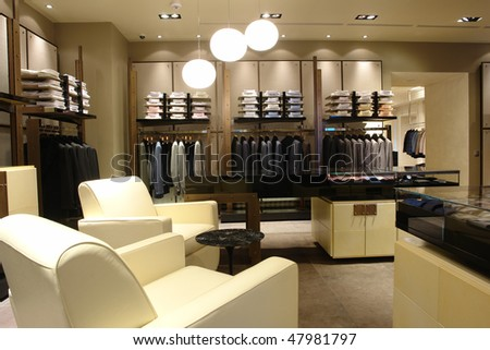 interior of a shop with white chairs