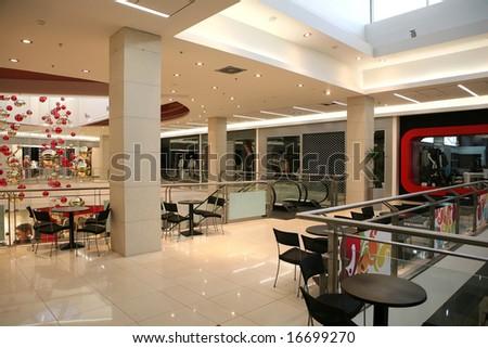 interior of a shopping center