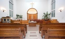 Interior of a small baptist church