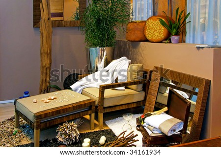 Interior of a summer beach holiday house