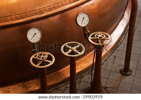 Interior of a traditional brewery in Amsterdam, Holland Stock photo ©
