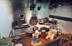 Interior of a vintage kitchen
