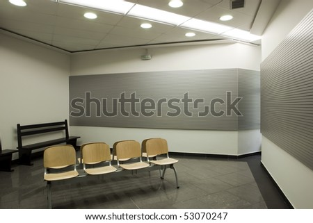 interior of a waiting room