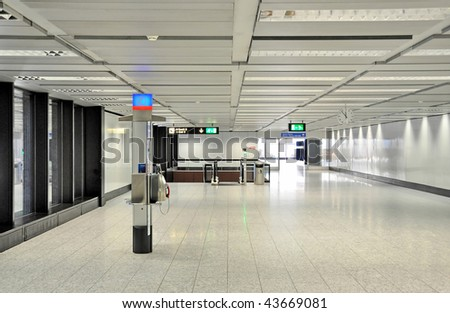 Interior of an airport