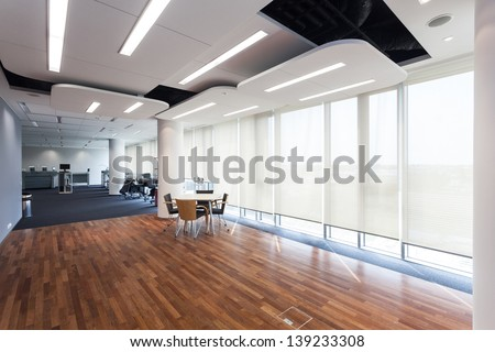 Interior of an office in a printing company