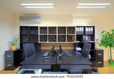 Interior of an office, modern and simple design.