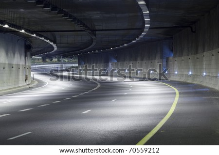 Interior of an urban tunnel without traffic #70559212
