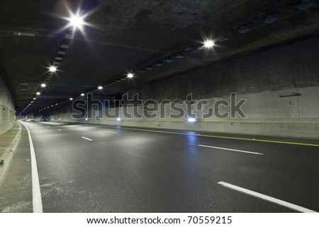Interior of an urban tunnel without traffic #70559215