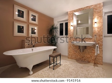 Interior of bath room in modern house