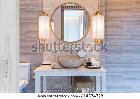 interior of bathroom with...