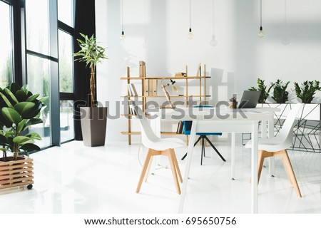 interior of beautiful modern office