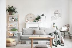 Interior of beautiful stylish living room