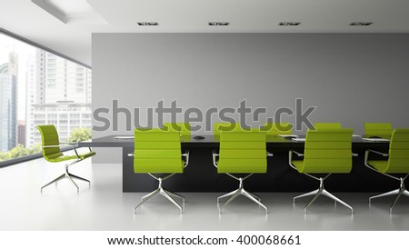 interior of  boardroom with...