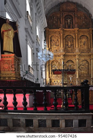 Interior of Bom Jesus (1), Goa,  India