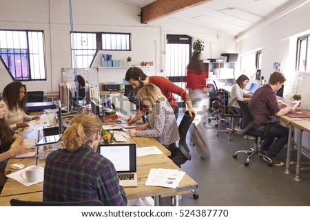Interior Of Busy Design Office With Staff #524387770