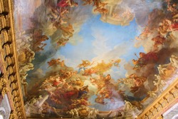 Interior of Chateau de Versailles or Palace of Versailles
