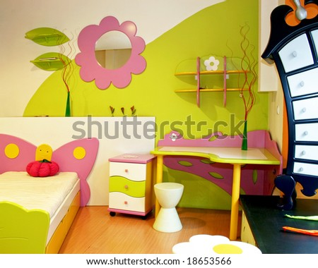 Room Interior  Kids on Interior Of Children Room With Colorful Furniture Stock Photo 18653566