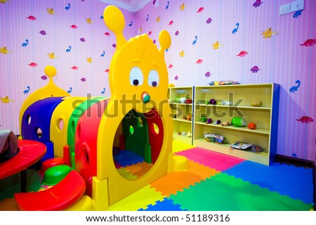 Room Interior  Kids on Interior Of Children S Room With Many Toys  Stock Photo 51189316