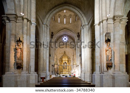 interior of church of Colegiata de Santa Maria, Toro, Zamora Province, Castile and Leon, Spain