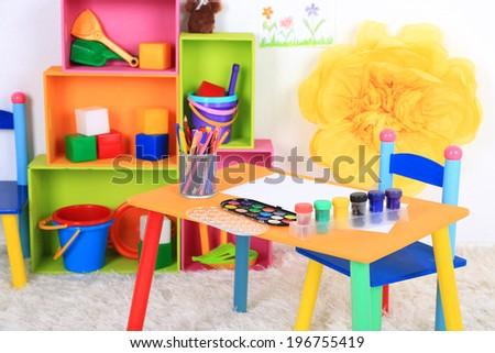 Interior of classroom at school #196755419