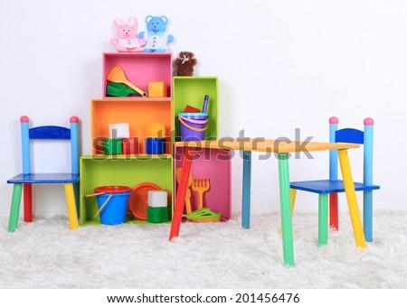 Interior of classroom at school #201456476