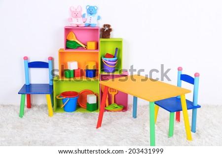 Interior of classroom at school #203431999