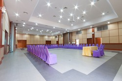 interior of conference hall setting for meeting group.