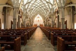 Interior of contemporary cathedral