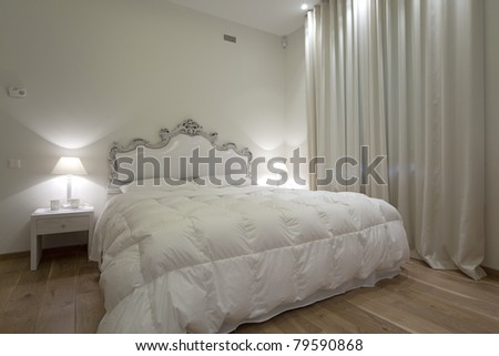 Interior of designer bedroom