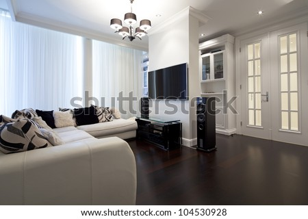 Interior of designer living room