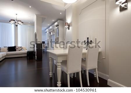 Interior of designer living room - stock photo